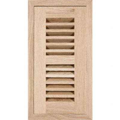 4&#034; x 14&#034; White Oak Grill Flush w/Frame